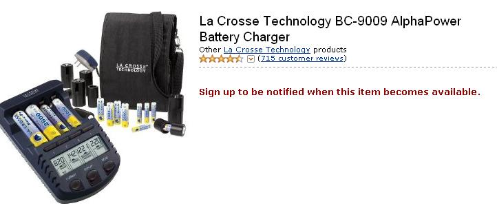 Defective La Crosse BC-9009 no longer available