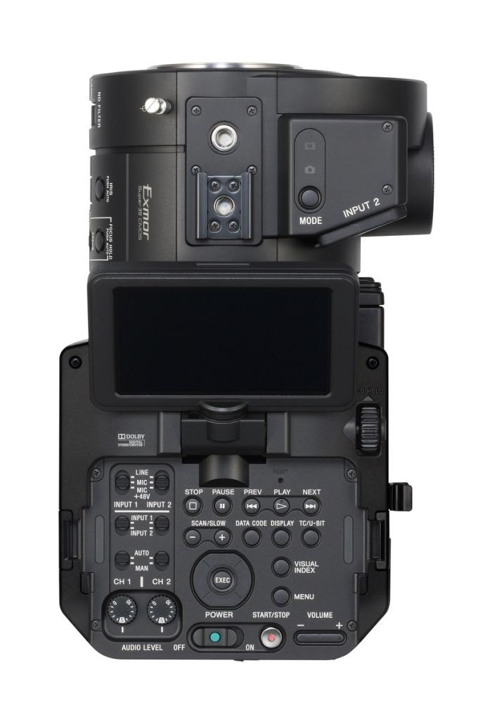 LCD on Sony NEX-FS700